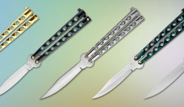 Colorful Flick balisong butterfly knives for cheap on Grindworx. Perfect for beginners or balisong enthusiasts on a budget.